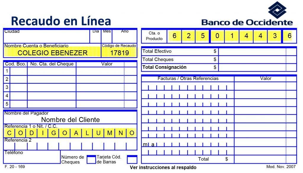 Formato de recaudo COLEGIO EBENEZER-1